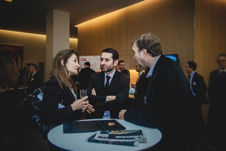 Christine Lejoux, Jean-Christophe Tortora (au centre) et Philippe Mabille (La Tribune) - IN BANQUE 2016 - Crédit photo : Guillermo Gomez