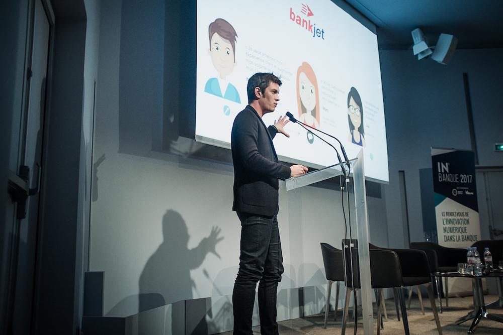 Maxime Baumard (iAdvize) - IN BANQUE 2017 - Crédit photo : Guillermo Gomez