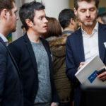 Maxime Baumard (iAdvize, au centre) - IN BANQUE 2017 - Crédit photo : Guillermo Gomez