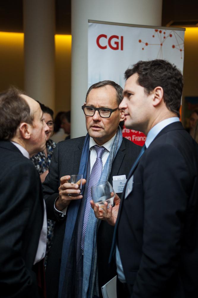 Stéphane Dalifard (CGI Business Consulting, à droite) - IN BANQUE 2017 - Crédit photo : Guillermo Gomez