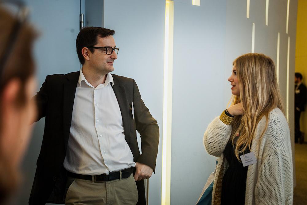 Stéphane Loire (Next Content) et Magali Van Bulck (Transferwise) - IN BANQUE 2017 - Crédit photo : Guillermo Gomez