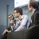Nicolas Serre (ING, au centre) - Pascal Pfielger (Bforbank) - Antoine Hemon-Laurens (GMC Software) - IN BANQUE 2017 - Crédit photo : Guillermo Gomez