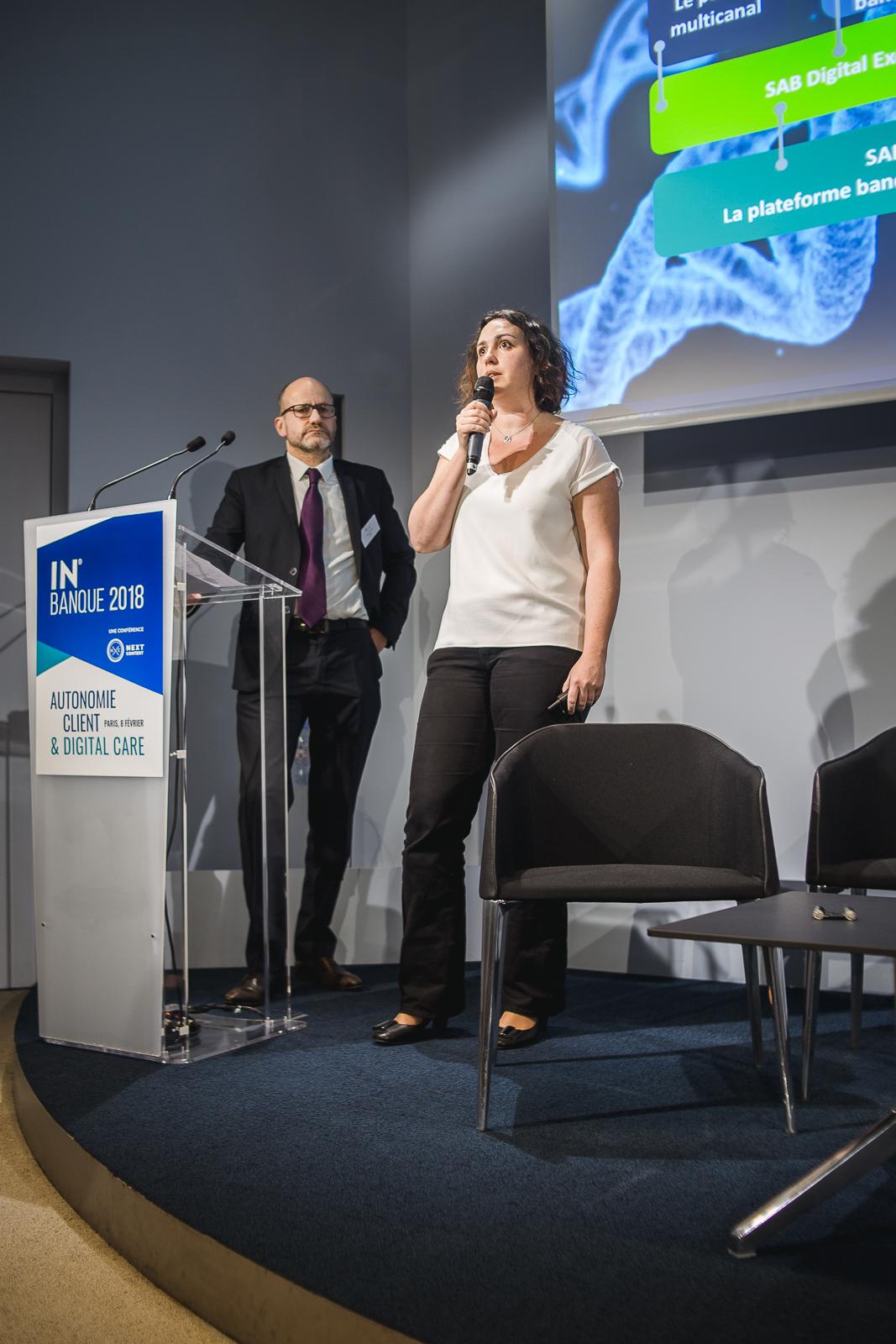 Jacques Erra (SAB, à gauche) et Naïg Le Callonnec (SAB) - IN BANQUE 2018 - Crédit photo : Guillermo Gomez