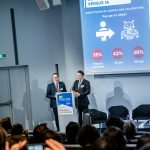 Christophe Husson et Olivier Dondeyne (CGI Business Consulting) - IN BANQUE 2020 - Crédit photo : Guillermo Gomez